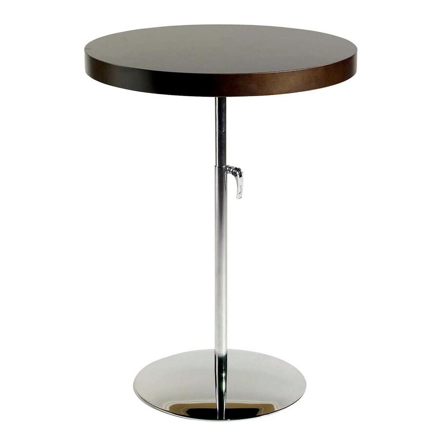 Adjustable Height Round Table.Eurostyle Raymond Chrome Wenge Round Adjustable Height Dining Table