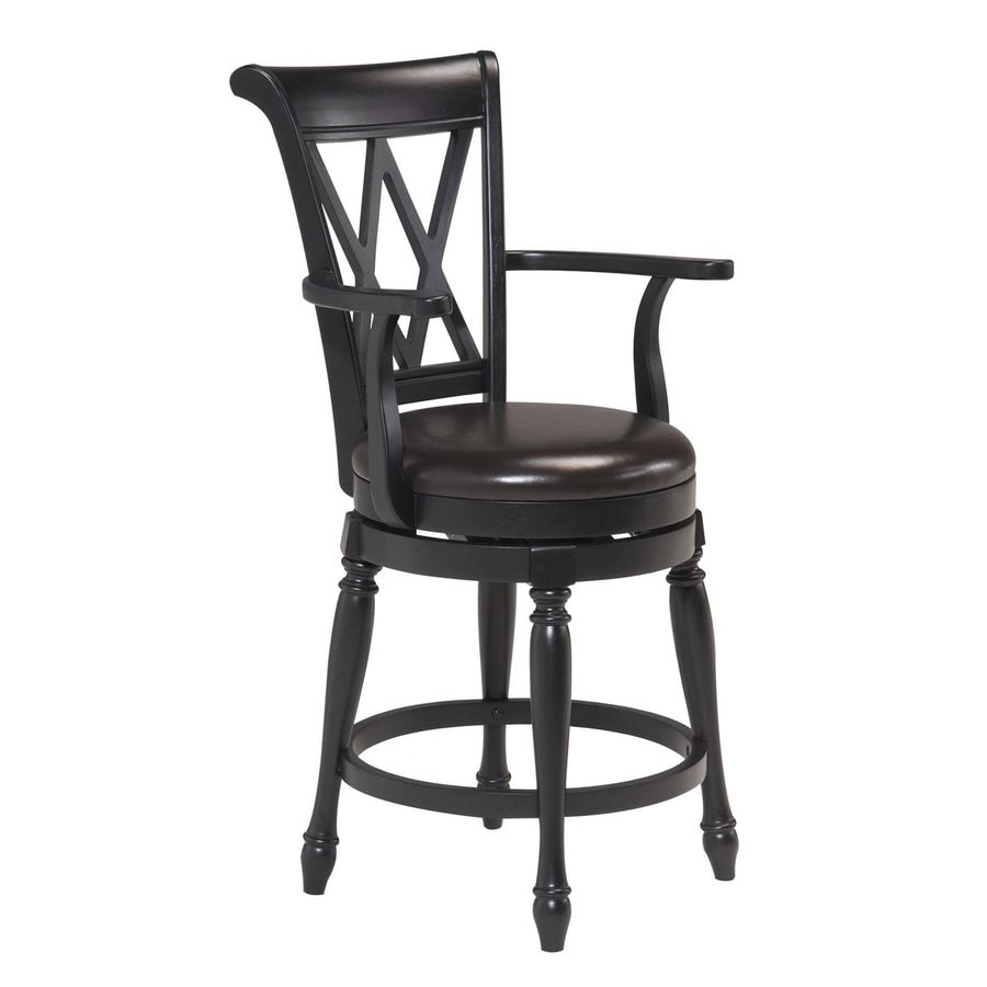 Home Styles Black 24-in Counter Stool