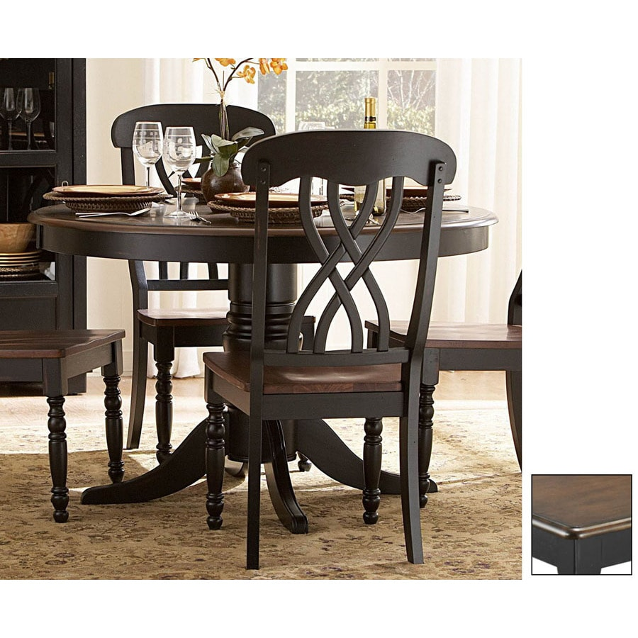 Homelegance Ohana Cherry Antique Black Round Dining Table