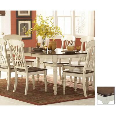Ohana Cherry Antique White Rectangular Dining Table