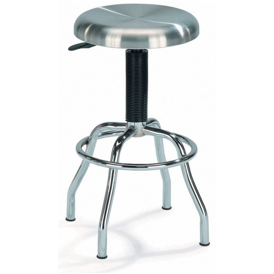 New Spec Chrome/Stainless Steel 29.5-in Adjustable Stool