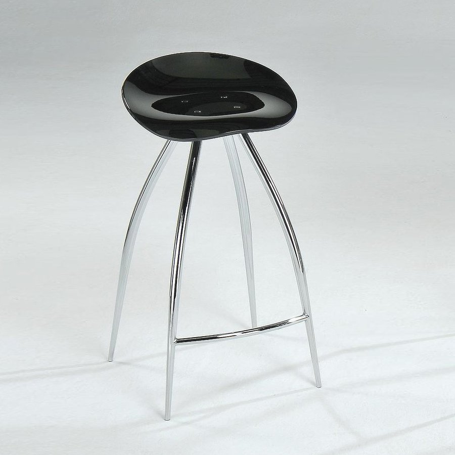 New Spec Steel/Black Bar Stool