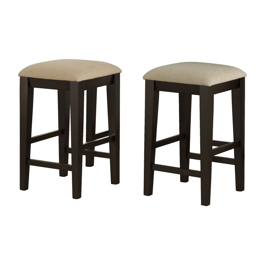 Monarch Specialties Set of 2 Cappuccino 24-in Counter Stool
