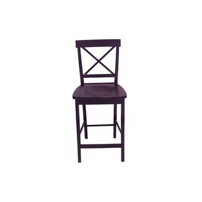 Magnificent Tms Furniture Crossback Black 24 In Counter Stool At Lowes Com Spiritservingveterans Wood Chair Design Ideas Spiritservingveteransorg