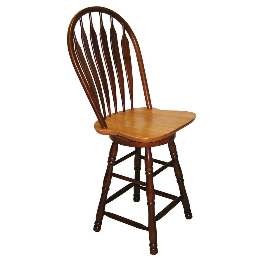 Sunset Trading Sunset Selections Nutmeg/Honey Light Oak 24-in Counter Stool