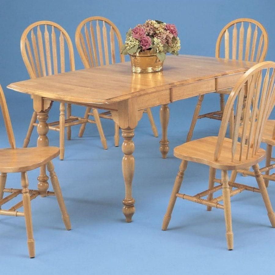 Shop Sunset Trading Sunset Selections Light Oak Rectangular Dining ...