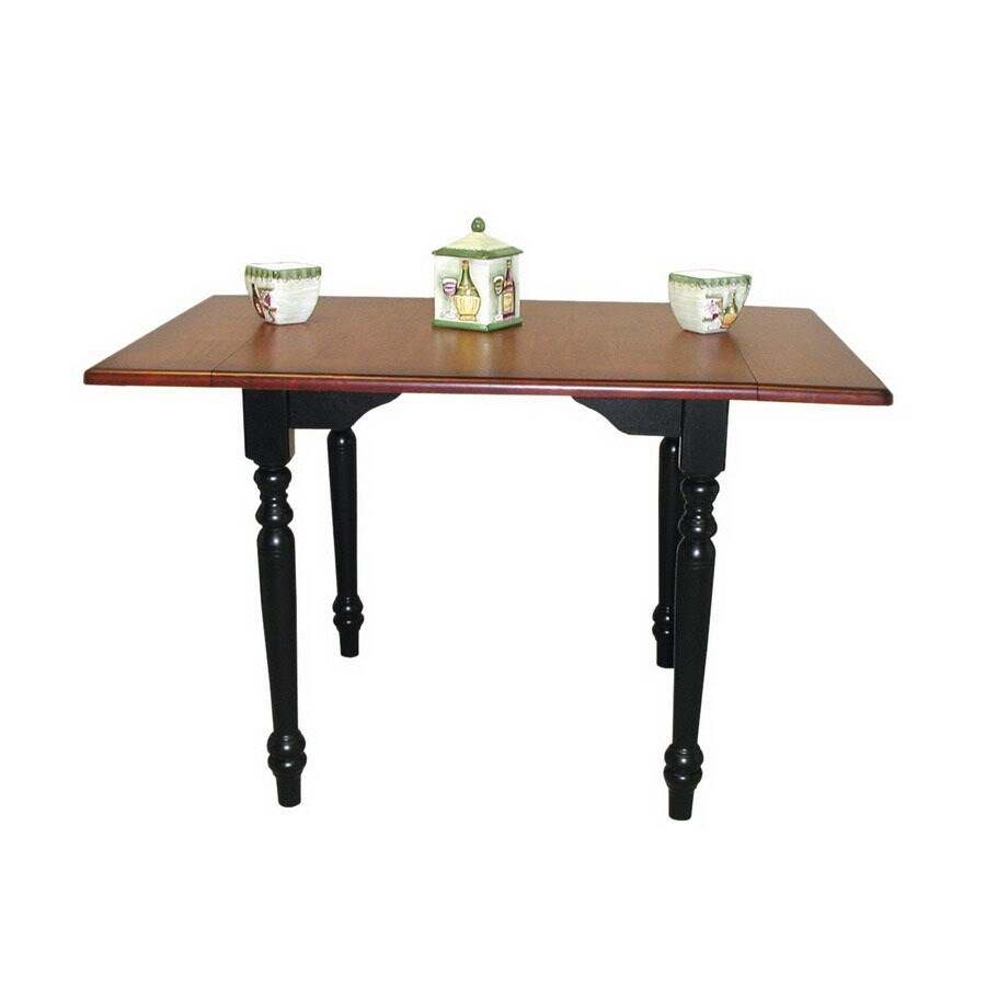 Sunset Trading Sunset Selections Cherry/Antique Black Rectangular Dining Table