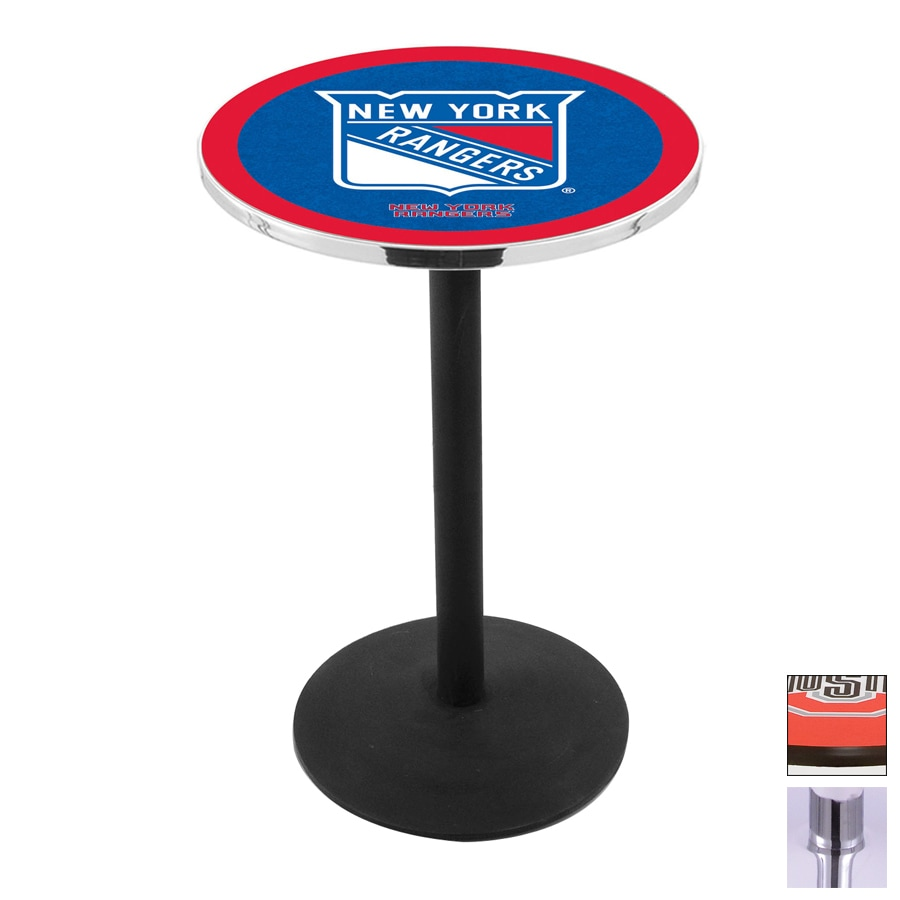 Holland New York Rangers Chrome Round Dining Table