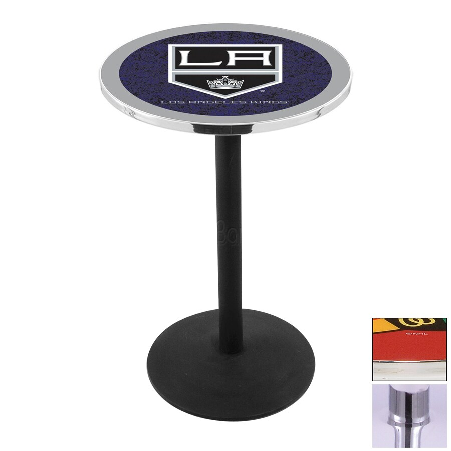 Holland Los Angeles Kings Chrome Round Dining Table