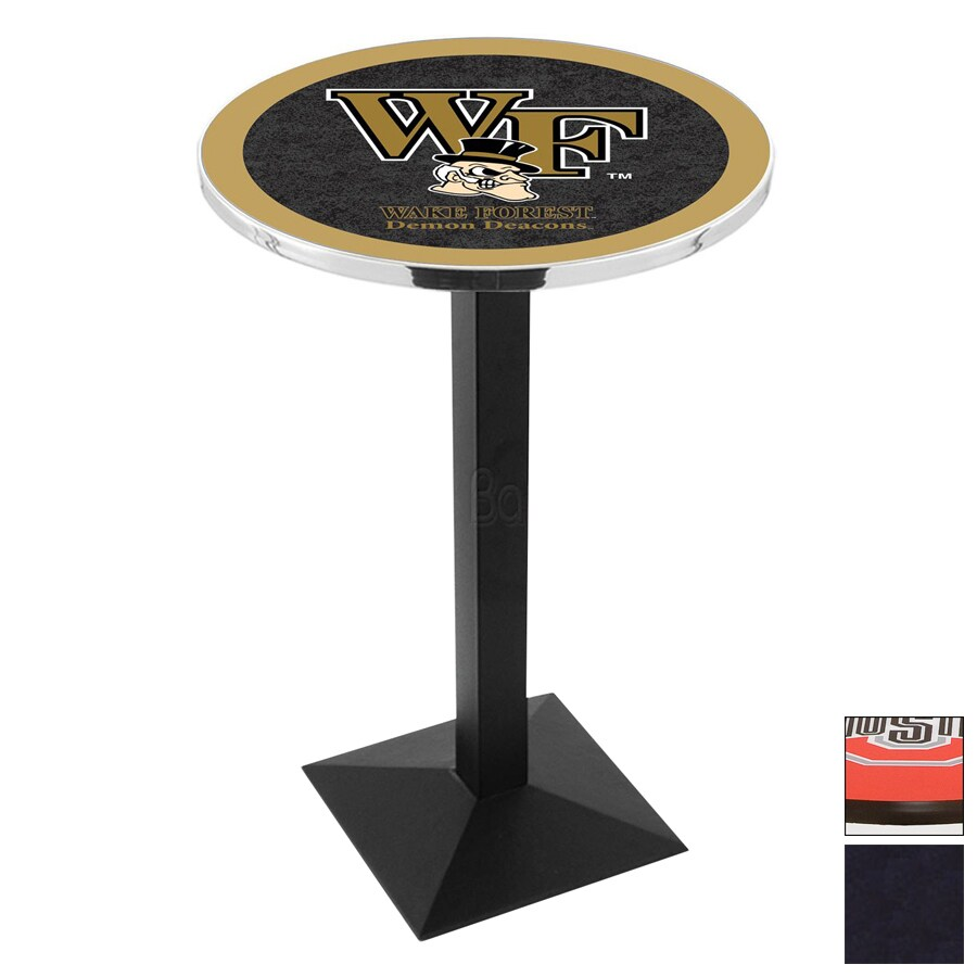 Holland Wake Forest University Black Wrinkle Round Dining Table
