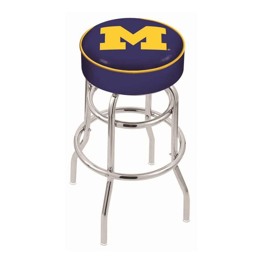Holland University Of Michigan Wolverines Chrome 30-in Bar Stool