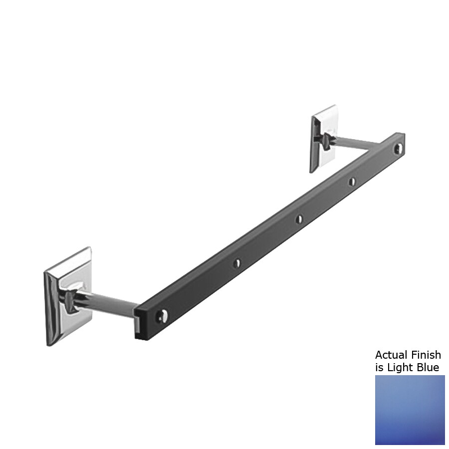 Nameeks Grip Light Blue Single Towel Bar (Common: 23-in; Actual: 23.43-in)