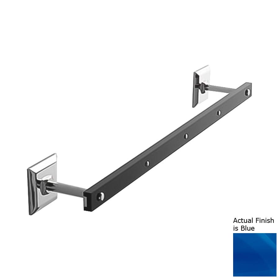 Nameeks Grip Blue Single Towel Bar (Common: 23-in; Actual: 23.43-in)