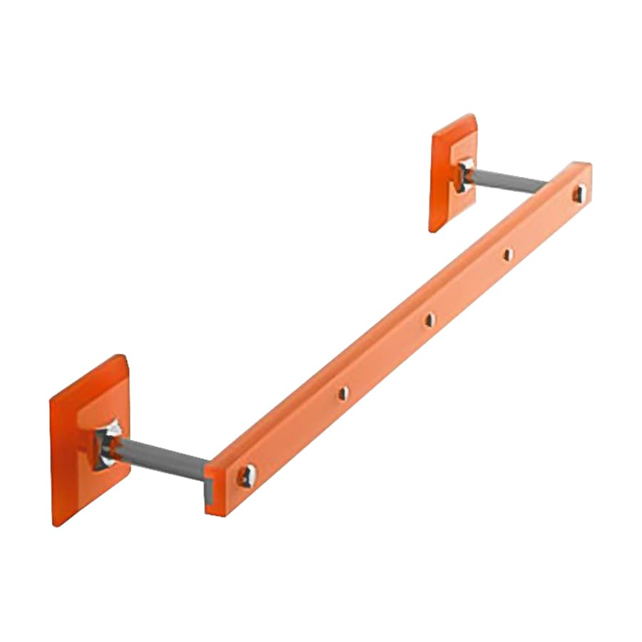 Nameeks Grip Orange Single Towel Bar (Common: 14-in; Actual: 13.58-in)