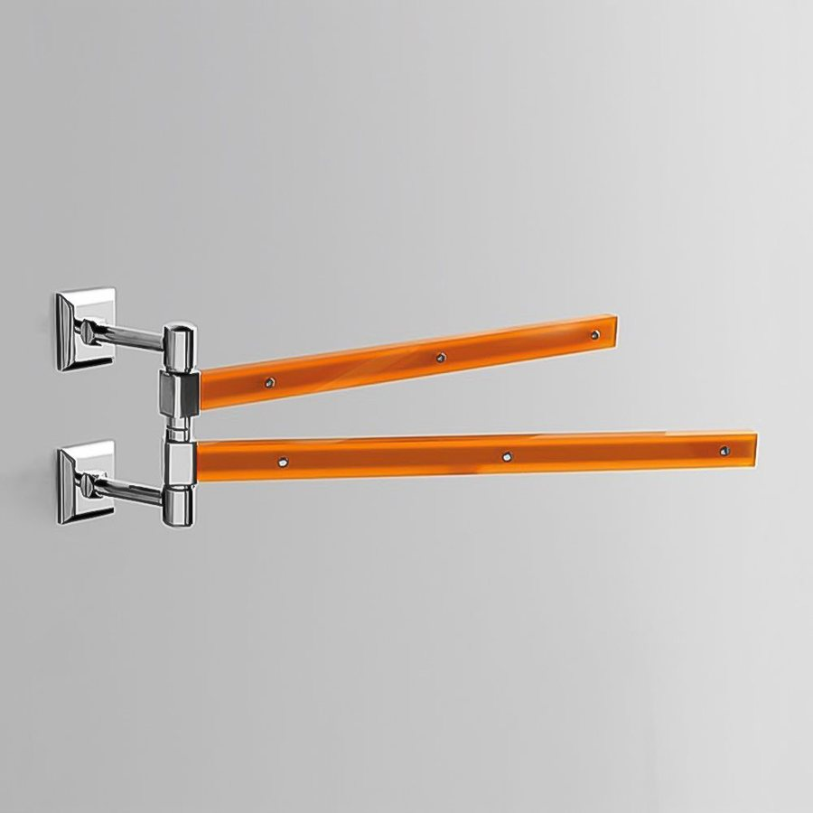 Nameeks Grip Orange Double Towel Bar (Common: 15-in; Actual: 15.16-in)