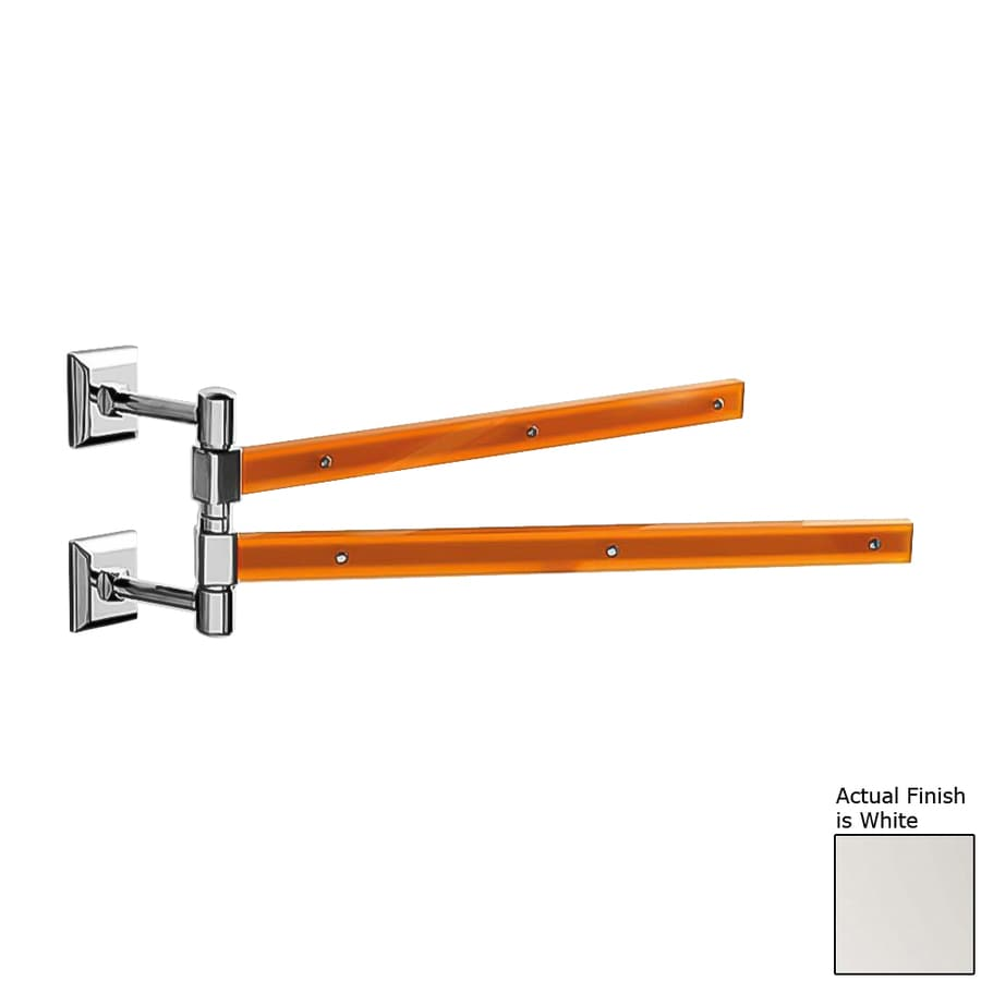 Nameeks Grip White Double Towel Bar (Common: 15-in; Actual: 15.16-in)
