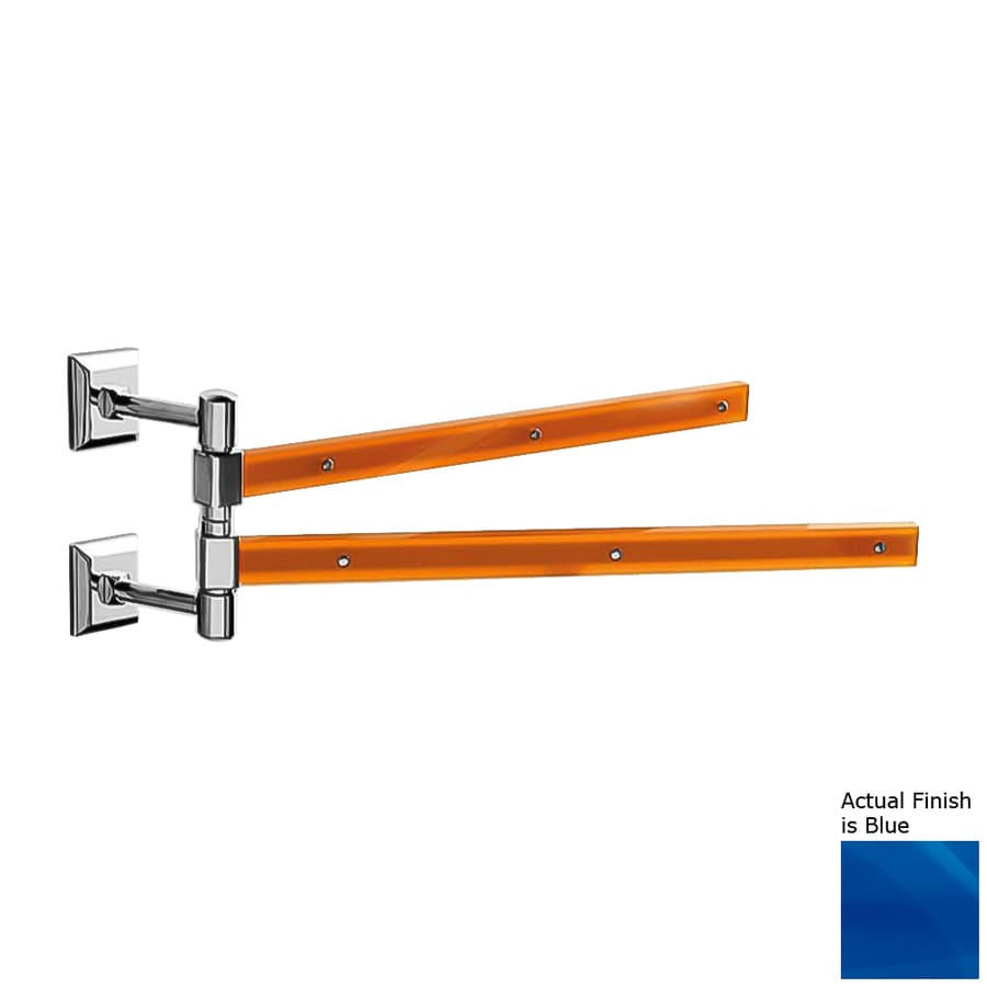 Nameeks Grip Blue Double Towel Bar (Common: 15-in; Actual: 15.16-in)