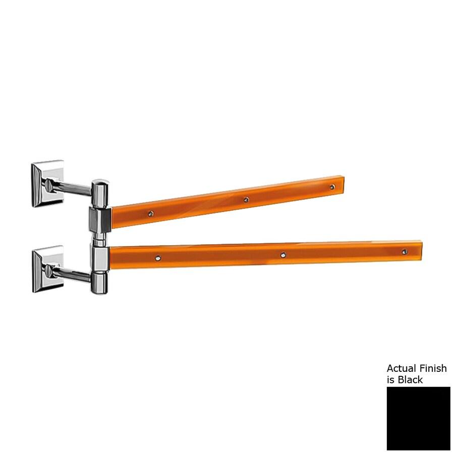 Nameeks Grip Black Double Towel Bar (Common: 15-in; Actual: 15.16-in)