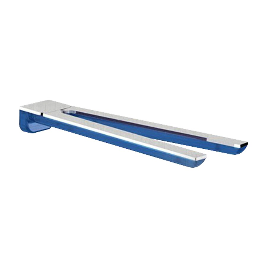 Nameeks Bijou Transparent Light Blue/Chrome Double Towel Bar (Common: 13-in; Actual: 13.15-in)