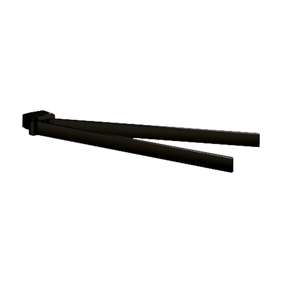 Nameeks Lounge Matte Black Double Towel Bar (Common: 15-in; Actual: 14.8-in)