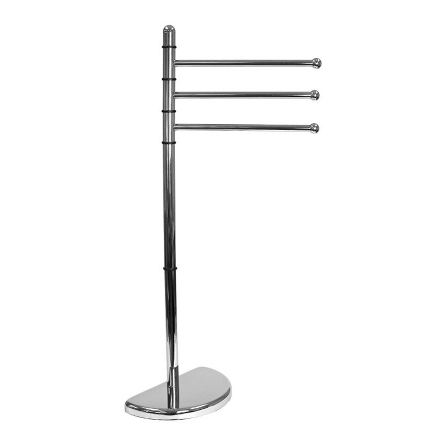 Nameeks Hibiscus Chrome Rack Towel Bar (Common: 15-in; Actual: 14.5-in)