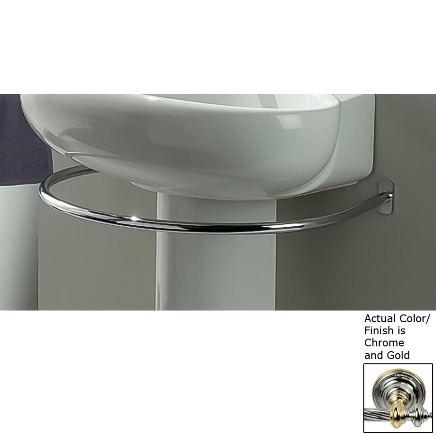 Nameeks Fluyd Chrome and Gold Single Towel Bar (Common: 24-in; Actual: 23.63-in)