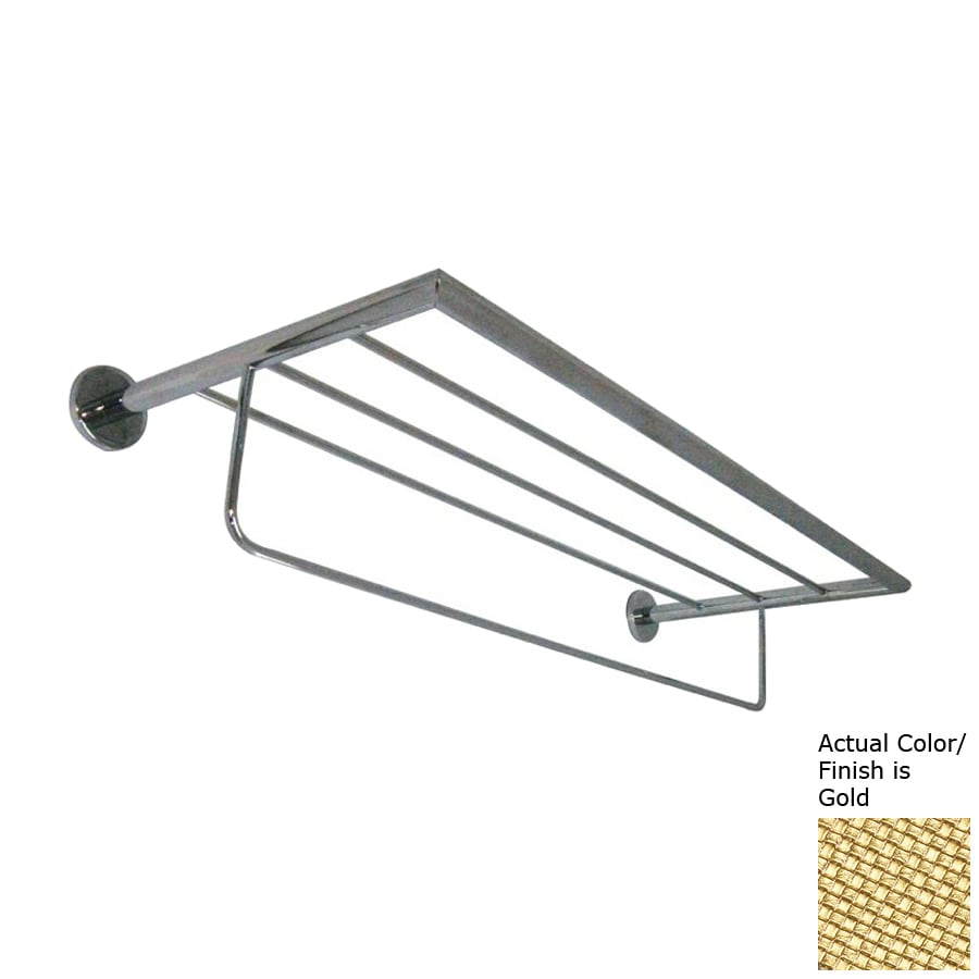 Nameeks Fluyd Gold Rack Towel Bar (Common: 24-in; Actual: 23.62-in)