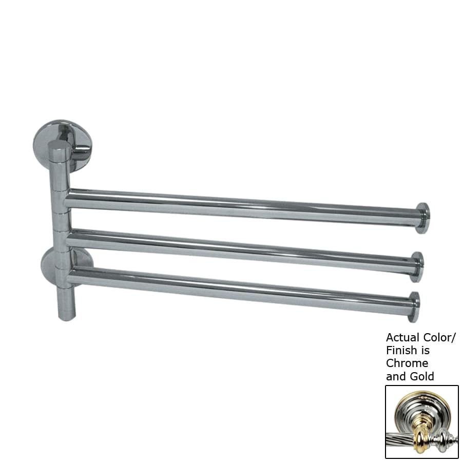 Nameeks Fluyd Chrome and Gold Rack Towel Bar (Common: 12-in; Actual: 11.81-in)