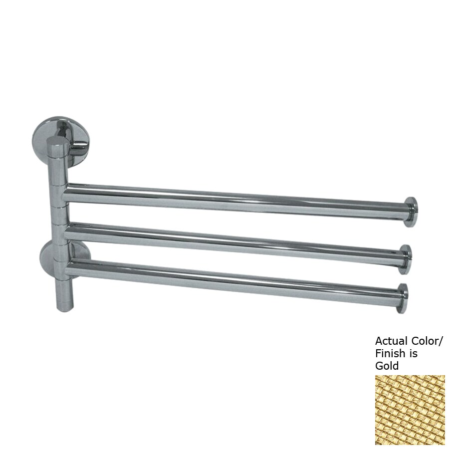 Nameeks Fluyd Gold Rack Towel Bar (Common: 12-in; Actual: 11.81-in)
