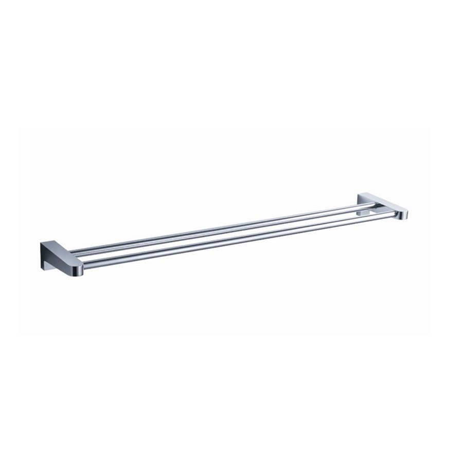 Fresca Generoso Triple Chrome Double Towel Bar (Common: 20-in; Actual: 19.5-in)
