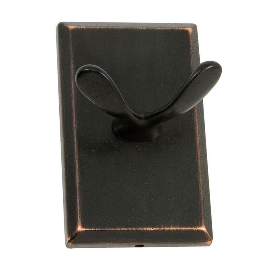 The Delaney Company 1000 Series 2-Hook Aged Bronze Robe Hook