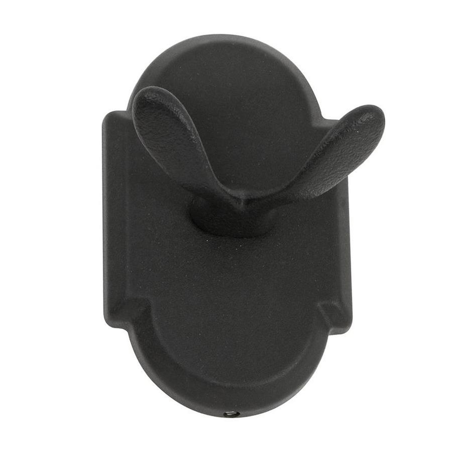 The Delaney Company 1000 Series 2-Hook Aged Black Robe Hook