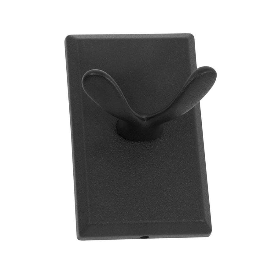 The Delaney Company 1000 Series 2-Hook Aged Black Towel Hook