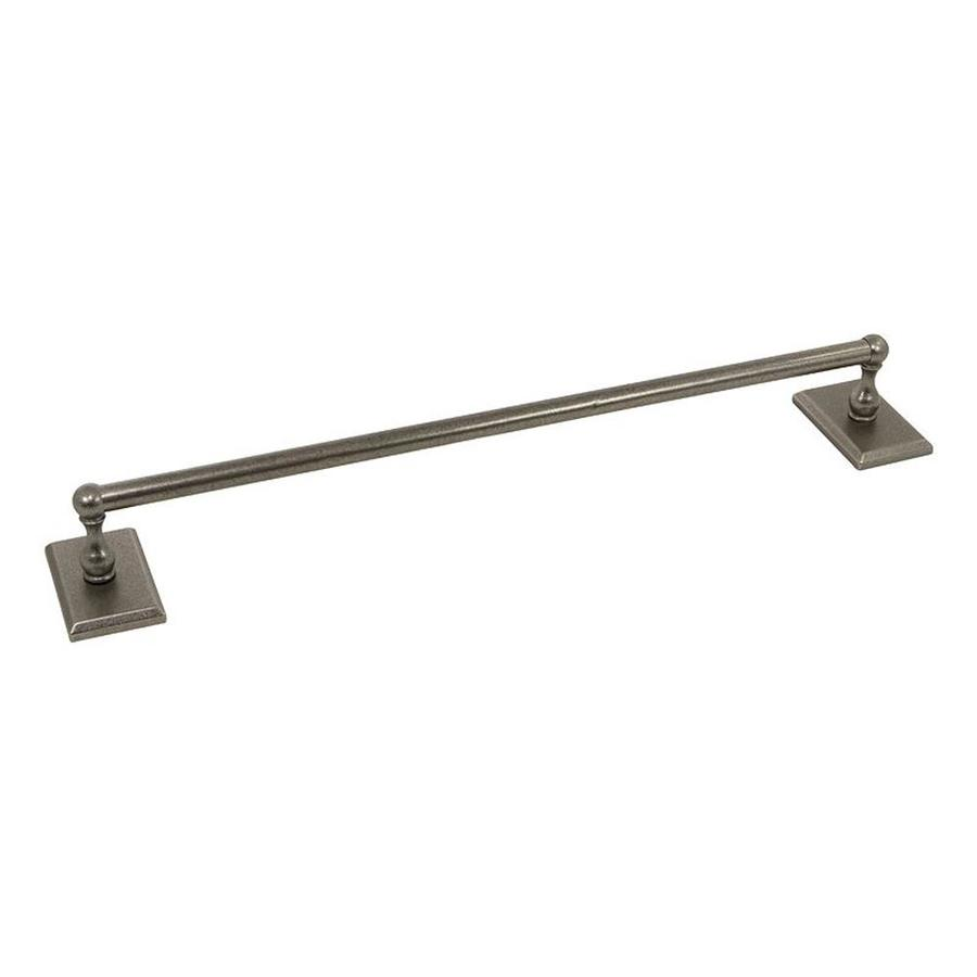 The Delaney Company 1,000 Series Aged Pewter Single Towel Bar (Common: 18-in; Actual: 18-in)