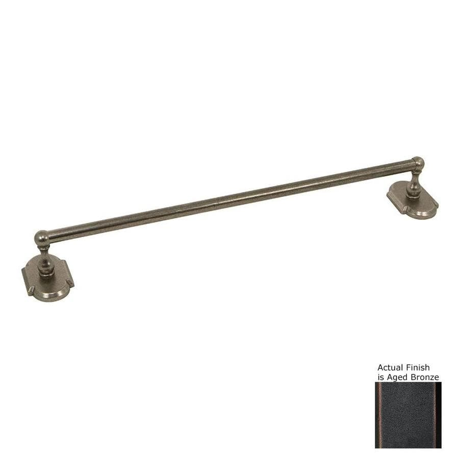 The Delaney Company 1,000 Series Aged Bronze Single Towel Bar (Common: 24-in; Actual: 24-in)