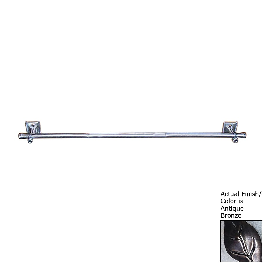 D'Artefax Bamboo Antique Bronze Single Towel Bar (Common: 24-in; Actual: 24-in)