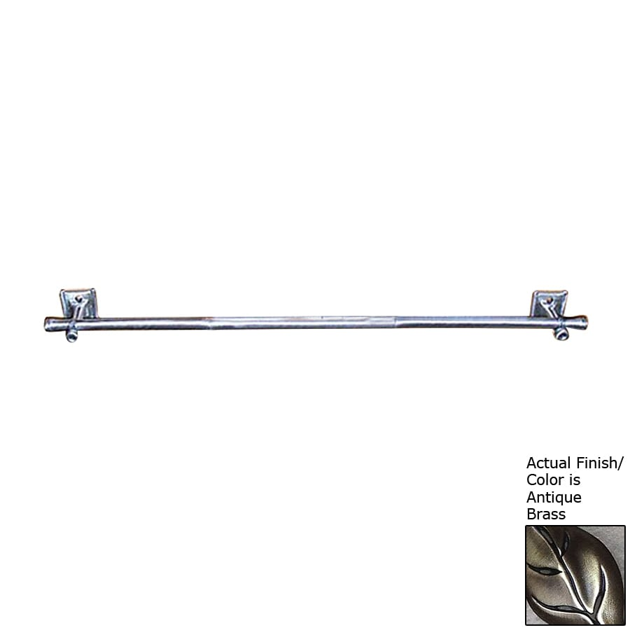 D'Artefax Bamboo Antique Brass Single Towel Bar (Common: 24-in; Actual: 24-in)