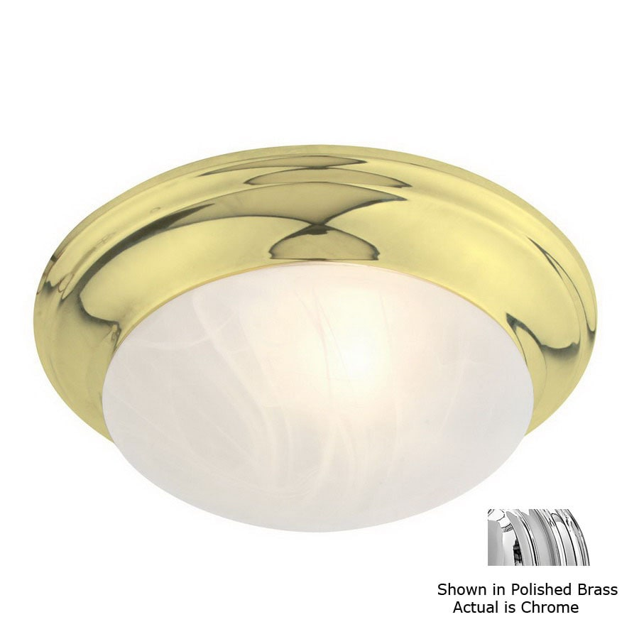 Livex Lighting 14-in W Chrome Ceiling Flush Mount
