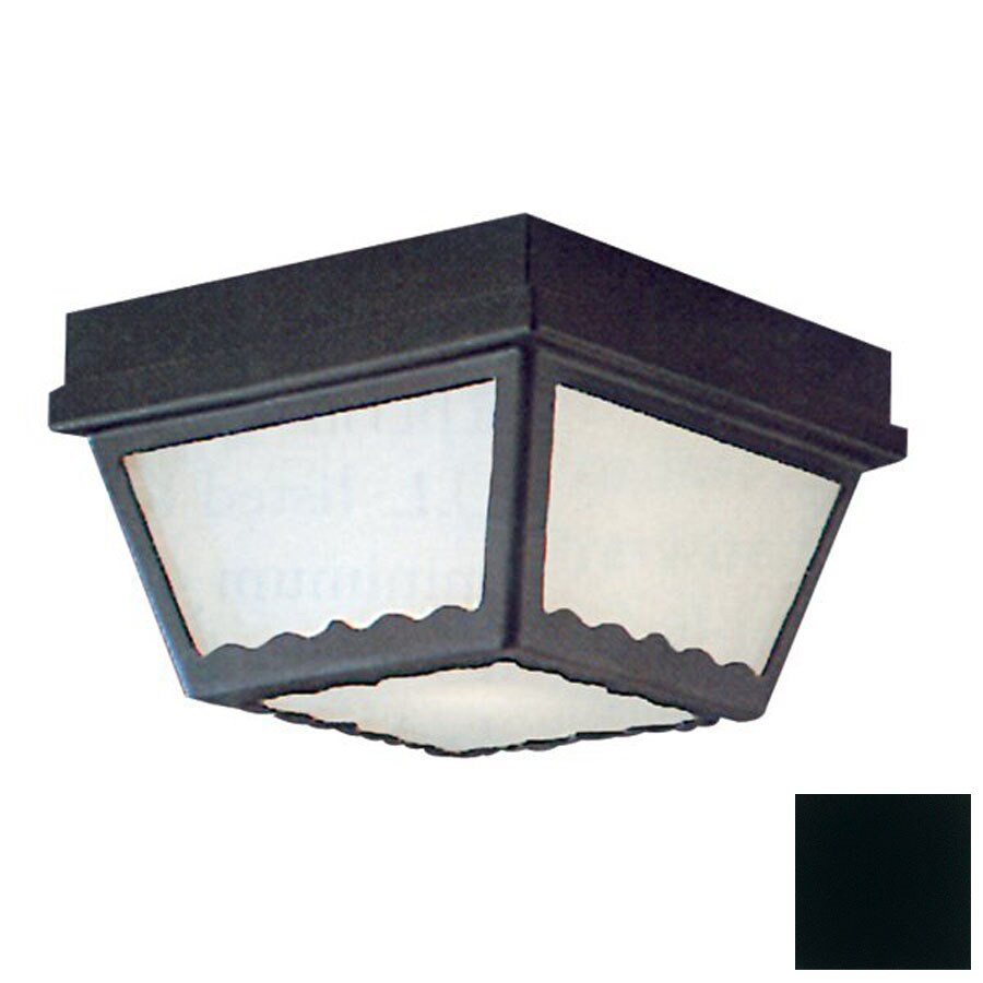 Thomas Lighting 9-1/2-in Black Outdoor Flush Mount Light