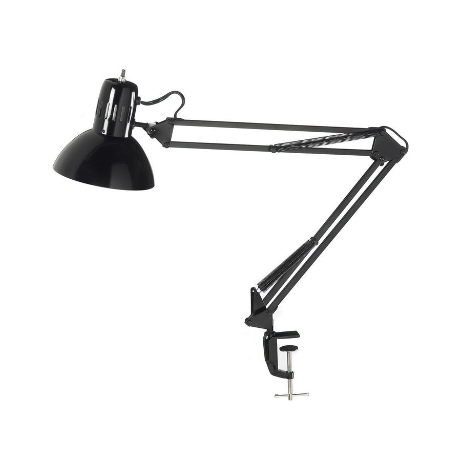 Dainolite Lighting 18 In Adjustable Black Clip Desk Lamp With Metal Shade