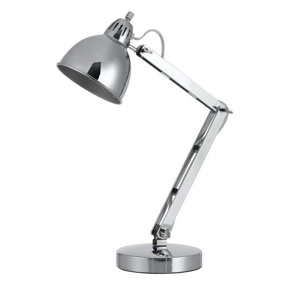 Cal Lighting Gorica 24 In Adjule Chrome Desk Lamp With Metal Shade