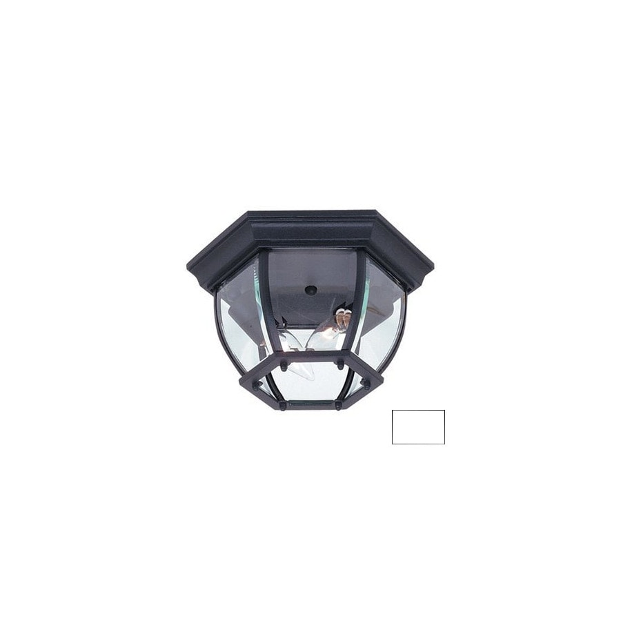 Artcraft Lighting Classico 10-3/4-in White Outdoor Flush Mount Light