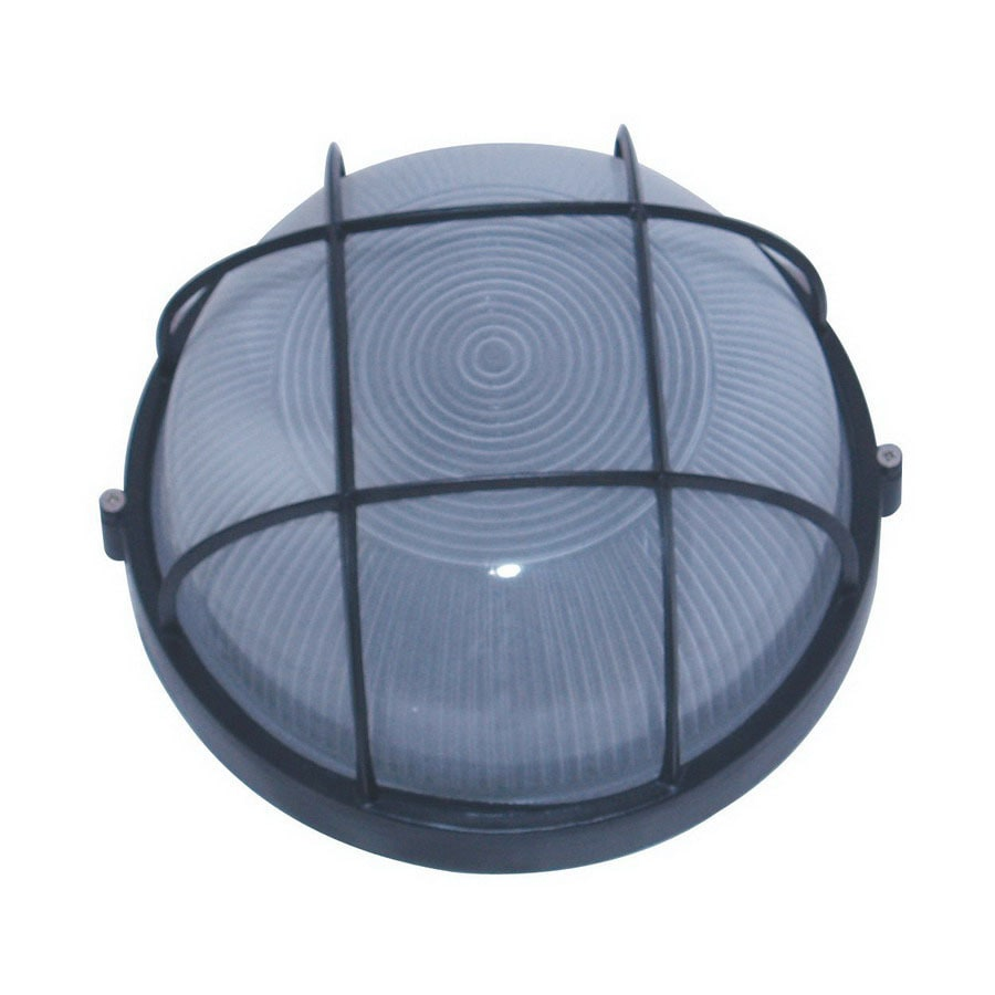 Whitfield Lighting 6-in Black Outdoor Flush Mount Light