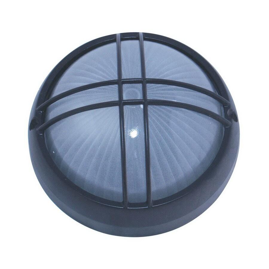 Whitfield Lighting 10-in Black Outdoor Flush Mount Light