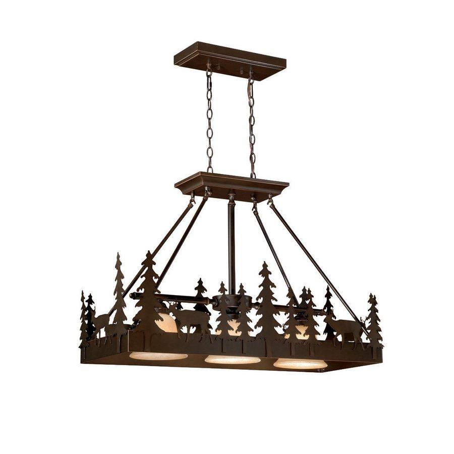 Cascadia Lighting Avenant 3 Light Kitchen Chandelier: Cascadia Lighting Bryce 14.5-in W 3-Light Burnished Bronze