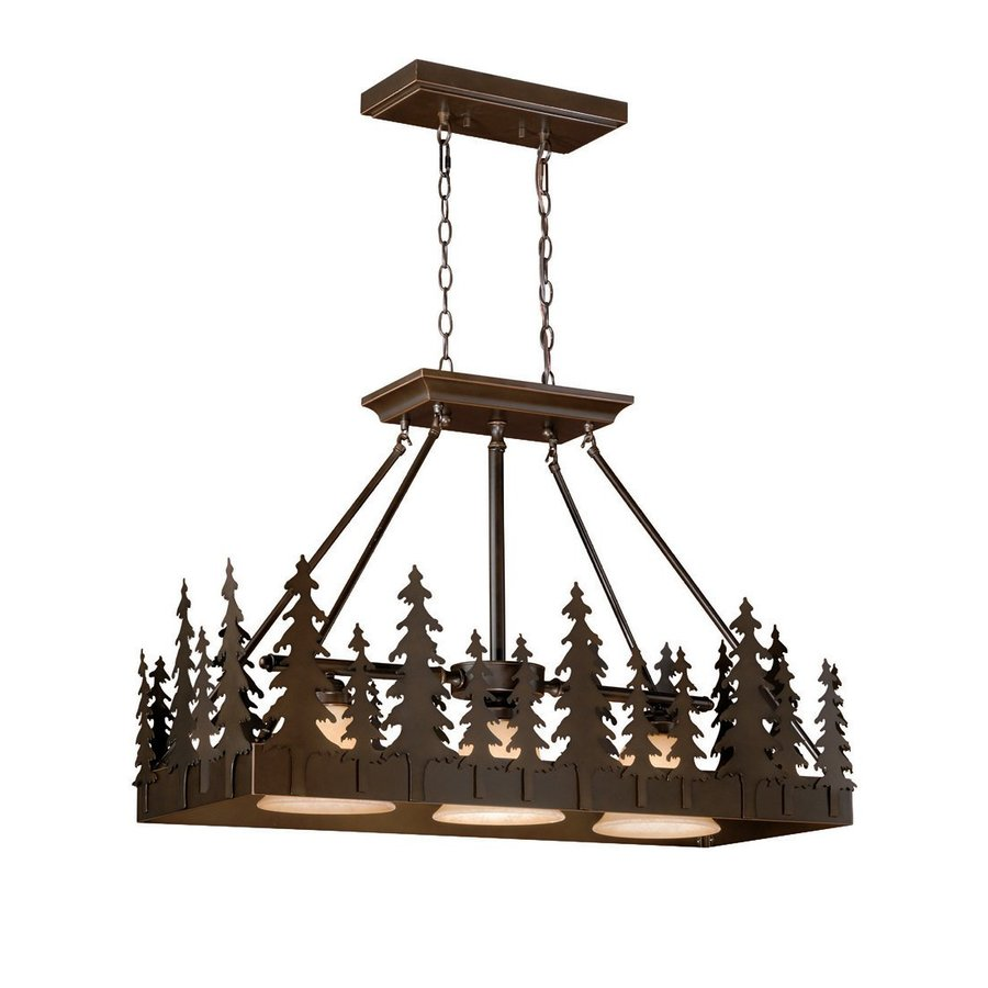 Cascadia Lighting Yosemite 14.5-in W 3-Light Burnished Bronze Kitchen Island Light with Metal Shade