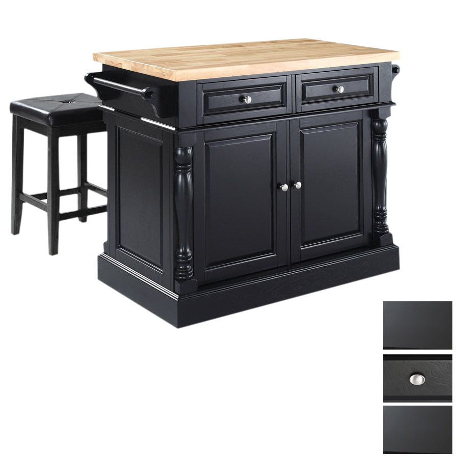 Crosley Furniture 48-1/4-in L x 23-in W x 36-in H Black Kitchen Island