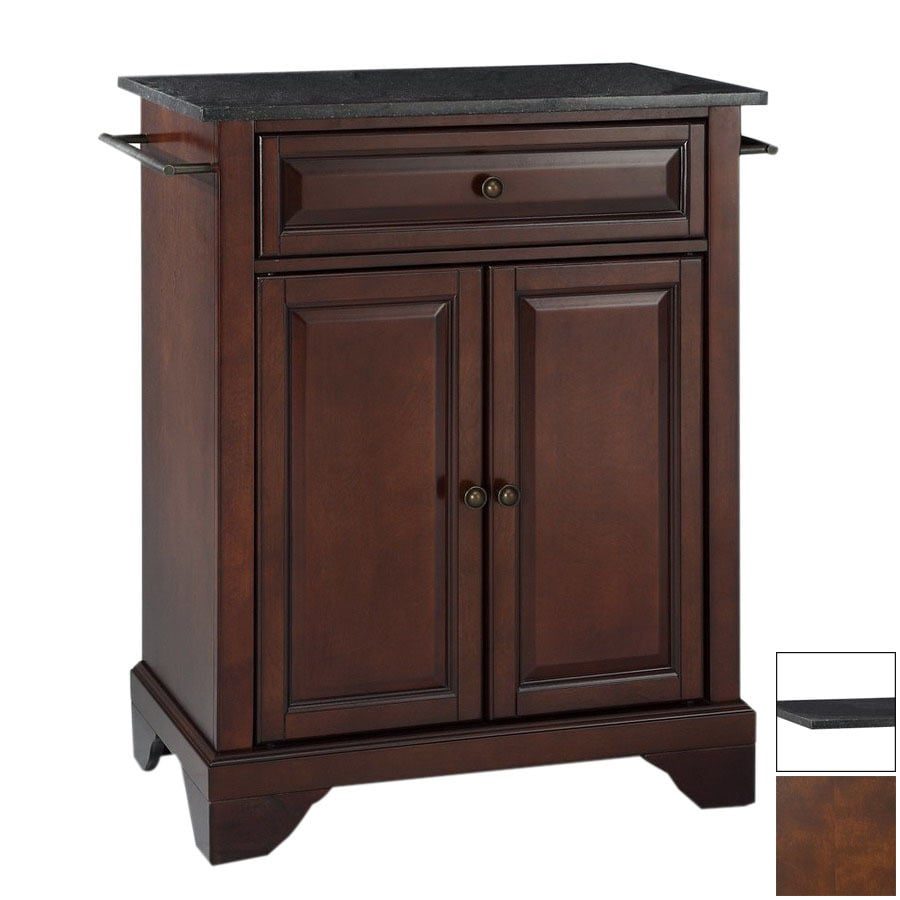 Crosley Furniture 28-1/4-in L x 18-in W x 36-in H Vintage Mahogany Kitchen Island