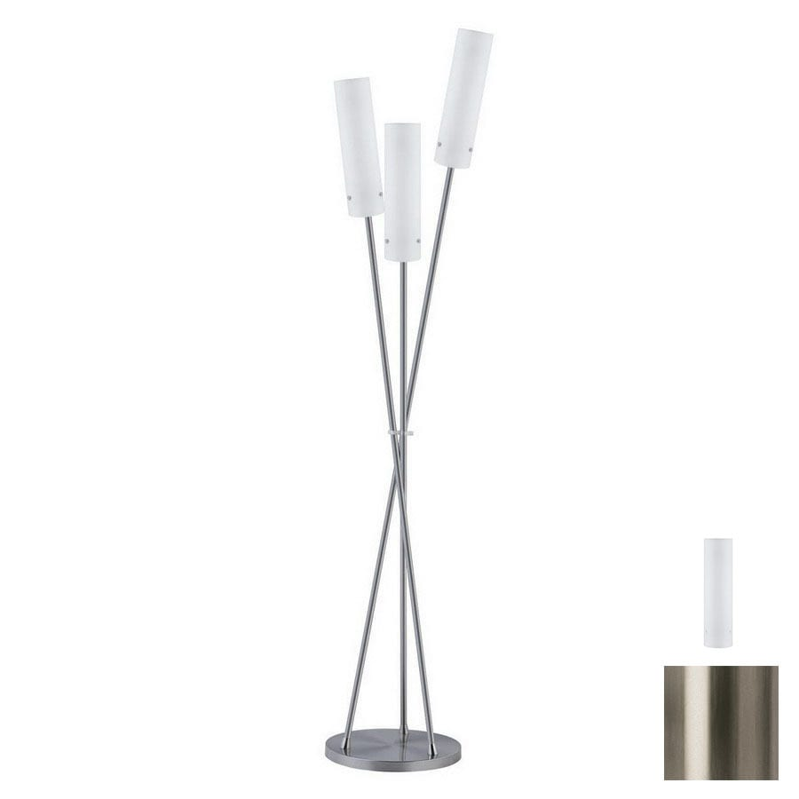 Paulmann 64-3/4-in Brushed Nickel Floor Lamp with Glass Shade
