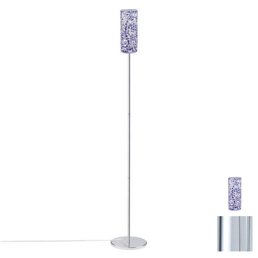 Paulmann 64-1/8-in Chrome Floor Lamp with Glass Shade